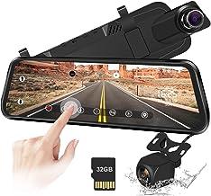 """Caméra de recul 10""""Miroir Dash Cam Caméra à écran Tactile Caméra de recul 170.."""