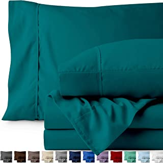 Bare Home Queen Sheet Set - 1800 Ultra-Soft Microfiber Bed Sheets - Double Brushed Breathable Bedding - Hypoallergenic – Wrinkle Resistant - Deep Pocket (Queen, Emerald)