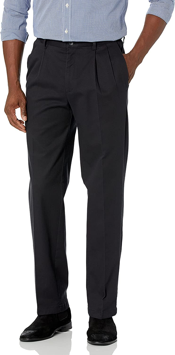 Bargain Ranking TOP4 Haggar Men's Work to Weekend Pro Fit Pleat Front Classic Pant