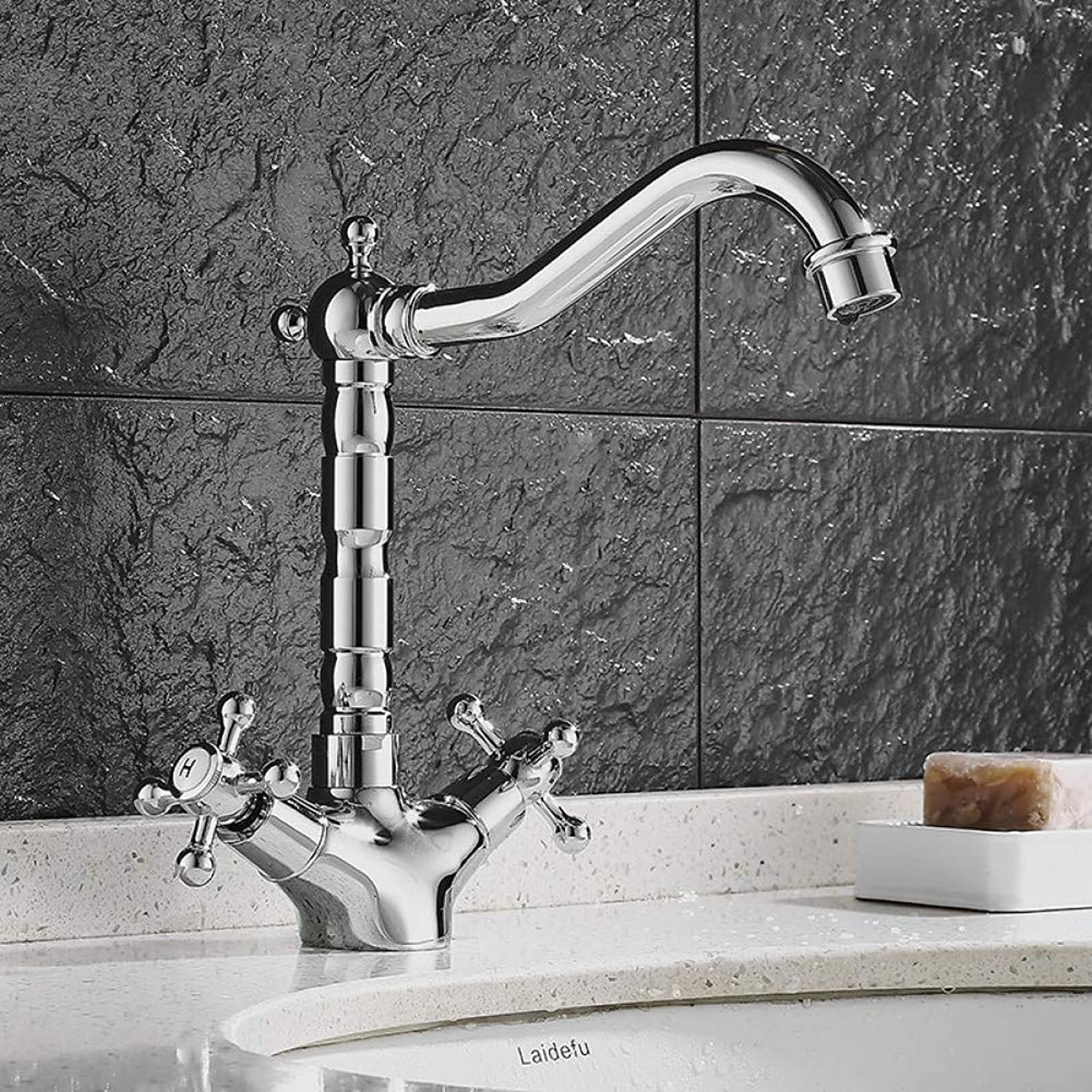 YHSGY Bathroom Sink Taps Fashion Simple Hot and Cold Water Basin Faucet Wash Basin Faucet