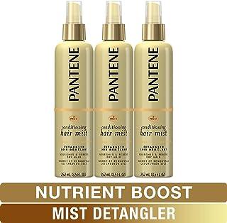 Pantene Conditioning Mist Detangler, Pro-V Nutrient Boost, Nourishing and Renewing, 8.5 Fl Oz (Pack of 3)
