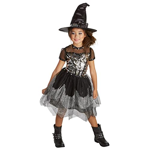 Turquoise Midnight Witch Gothic Cute Child Costume