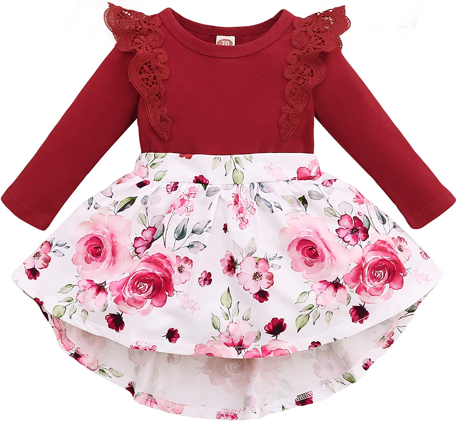 Max 45% OFF OLLUISNEO Infant Baby Girl Dress Sleeve Outfits Long Fall Winter Finally popular brand