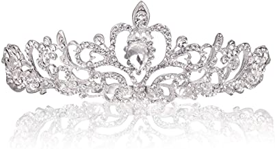 Makone Crystal Crowns and Tiaras with Comb Headband for Girl or Women Birthday Party Wedding Prom Bridal Halloween