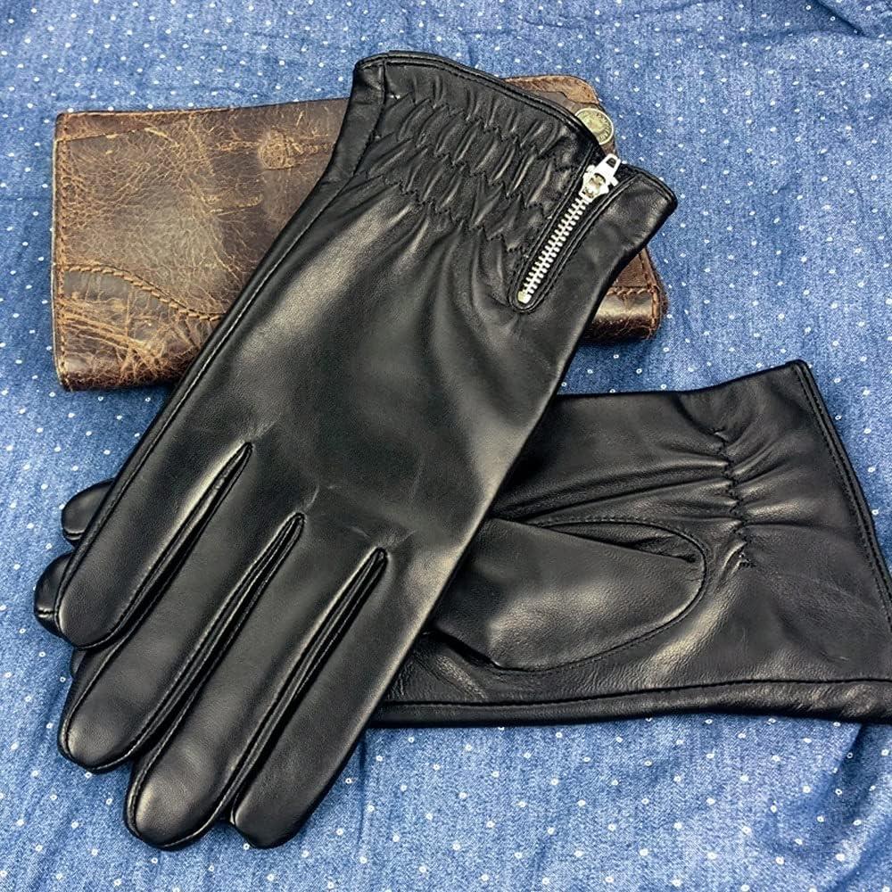 UimimiU Men Translated Winter Leather Warm Oakland Mall Windproof Water Sheepskin Gloves