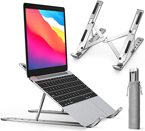 Laptop Stand, iVoler Adjustable Aluminum Laptop Computer Stand Tablet Stand,Ergonomic Foldable Portable Desktop Holde...