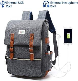 "EUATEO Laptop Backpack Business Laptop, Laptop Travel Bag Ligera y Durable Laptop Backpack Hombres y Mujeres Casual Backpack, Universidad y Niños, Multicolor 15.6""(Gray) (Gray)"