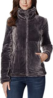 32 DEGREES Women's Plush Faux Fur Full Zip Jacket