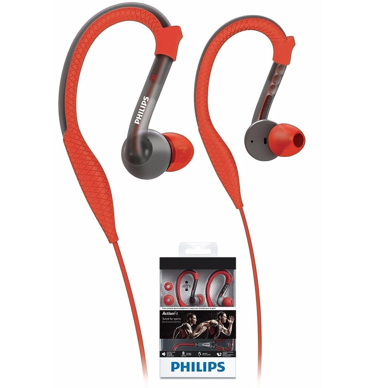 脆い収束する知覚Philips SHQ3200 ActionFit スポーツイヤーフック型ヘッドフォン SHQ3200 オレンジ&グレー [並行輸入品]