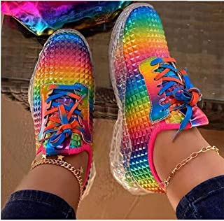 2020 New Sneaker Women Flat Mesh Ladies Lace Up Vulcanized Shoes Casual Breathable Comfort Walking Shoes Female Plus Size Sneakers Shoes,39