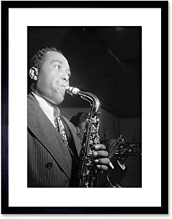 The Art Stop Music Vintage Photo Charlie Parker Jazz Music Sax Legend Framed Print F97X7572