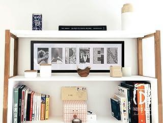 """Lámina""""Nombre x 6"""" Arte personalizado con fotografías de seis letras creativas, 72,5 x 25,5 cm (sin enmarcar)"""