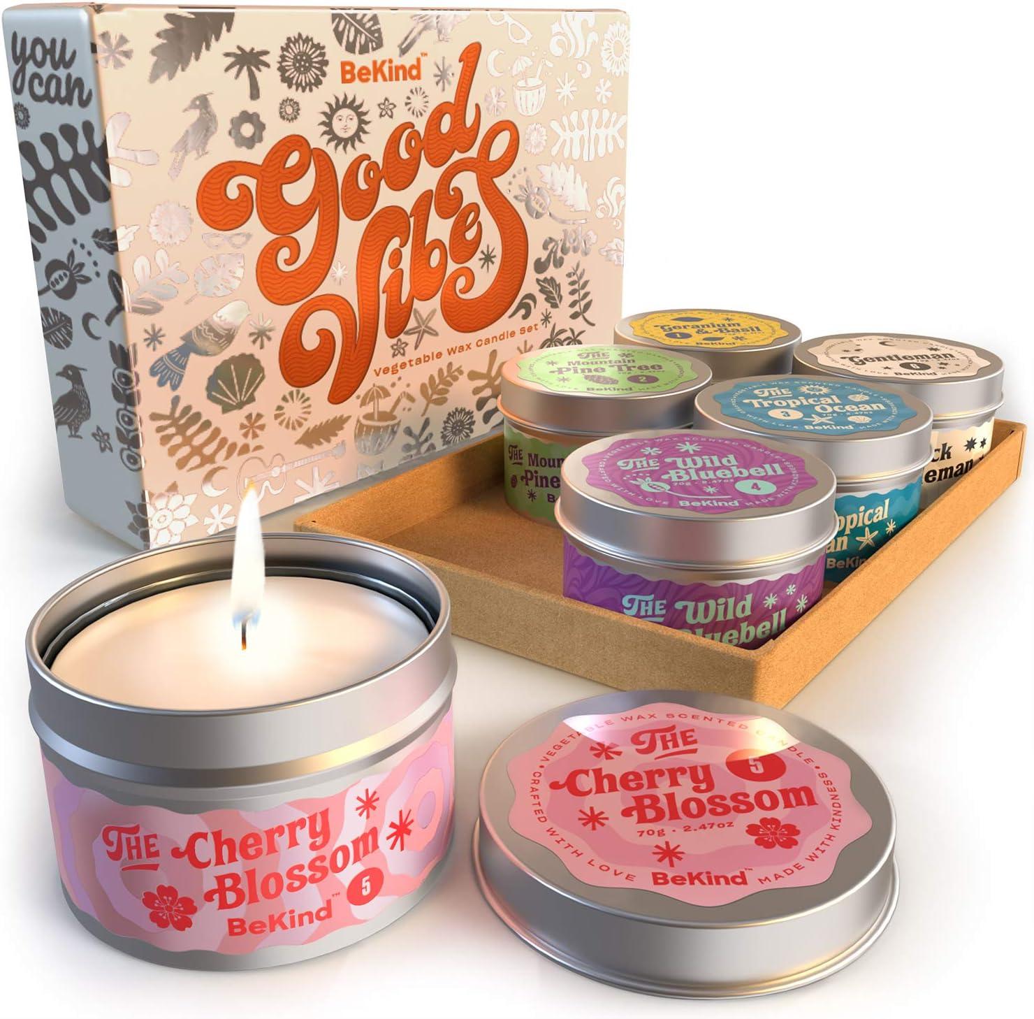 Bekind Good Vibes 6 Scented Candles Set