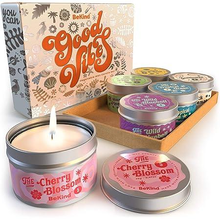 Velas Aromaticas Regalos Originales para Mujer 9 Oz 55 Horas de Quema Velas Perfumadas de Regalo Velas de Aromaterapia Cera de Soja 100/% Natural Vela de Viaje Adecuado para Yoga Ba/ño Dormitorio