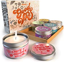 Bekind Good Vibes 6 Scented Candles Set - Scented Candles for Home, Relaxing Stress Relief, Aromatherapy - Natural Soy Wax...