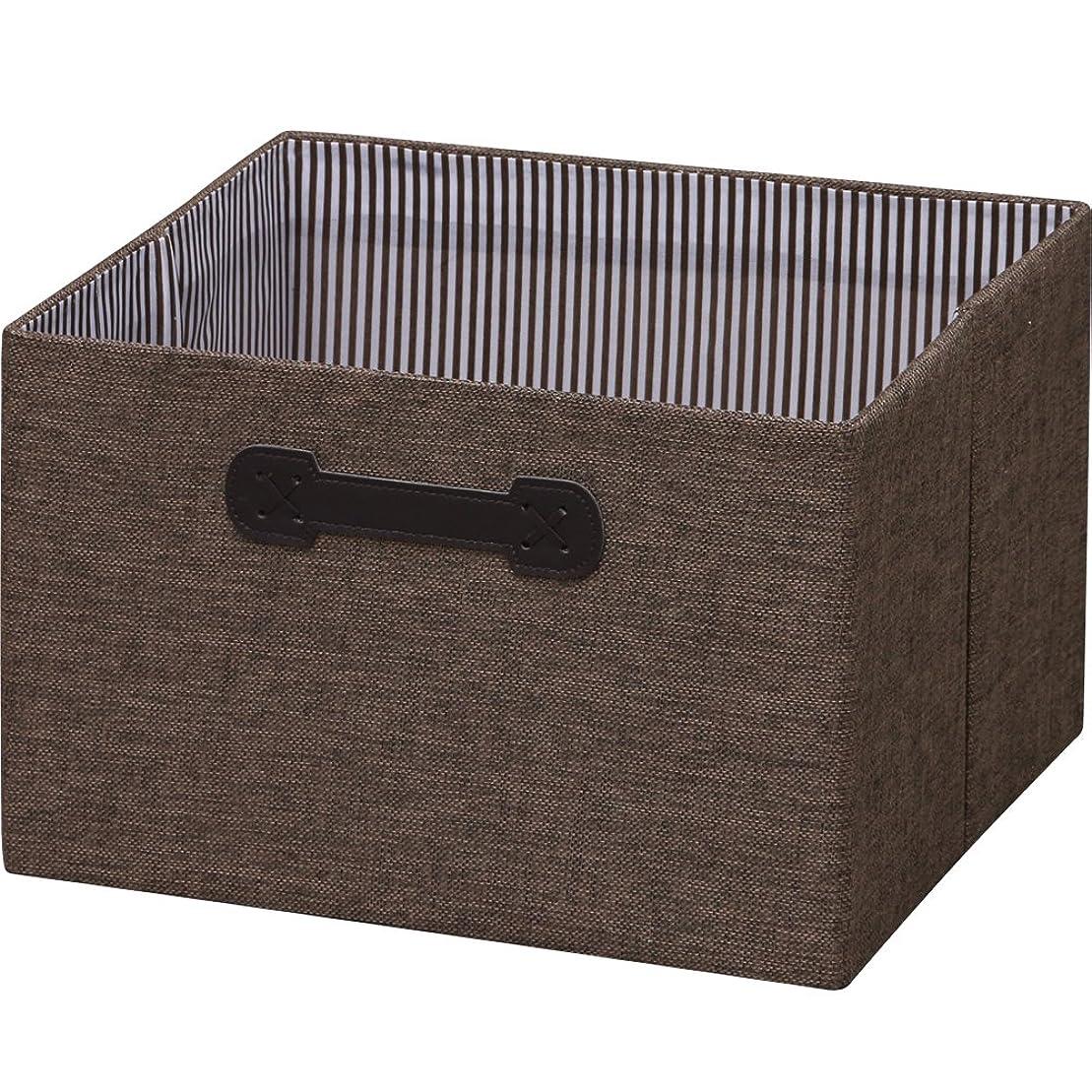 ランデブー咳万一に備えてアイリスオーヤマ ボックス インナーボックス 幅33.6×奥行26.8×高さ22cm ブラウン FIB-M33