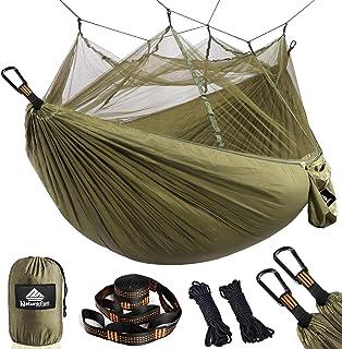 NATUREFUN Hamac Ultra-léger de Voyage Camping   300 kg Capacité de Charge,(275 x 140 cm) Respirante, Nylon à Parachute à s...