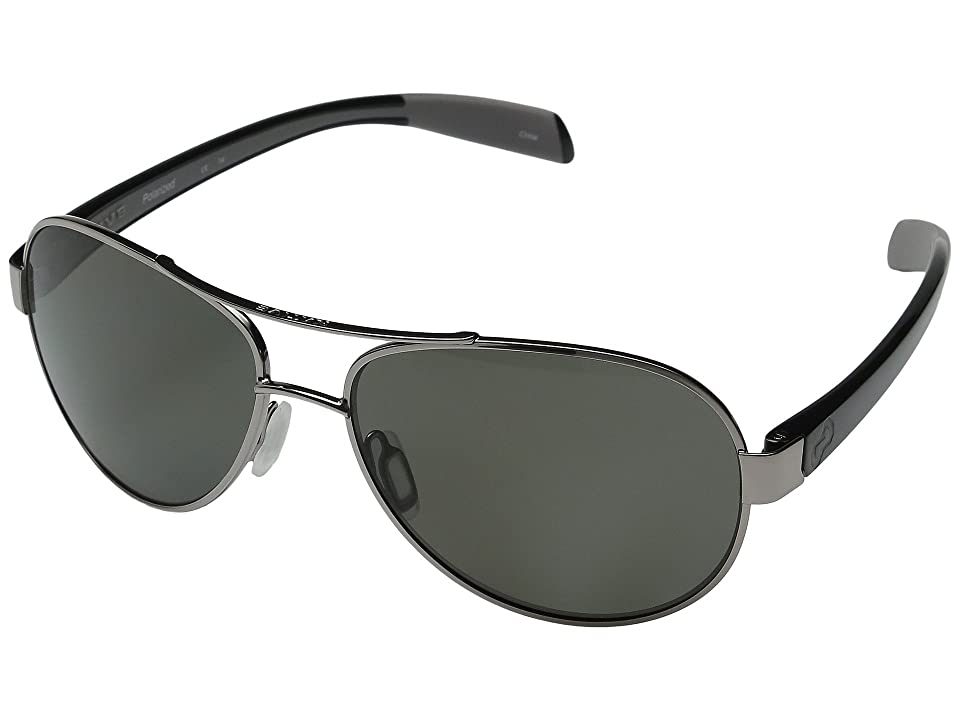 Native Eyewear Haskill (Chrome/Iron/Gray/Gray Lens) Athletic Performance Sport Sunglasses