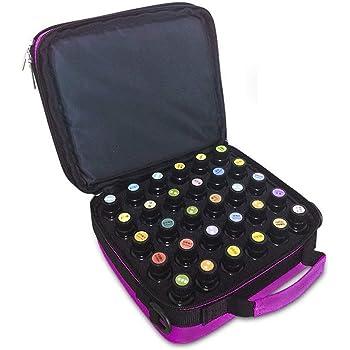 violet Aromatherapie Bo/îte de rangement 60 trous en mousse pour voyage dhuile essentielle de voyage /à ongles 10 ml 15 ml