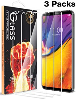 [3 Pack] Fnova for LG V35 ThinQ Screen Protector Tempered Glass, 9H Hardness Shield Anti Scratch Bubble Free High Definition Clear Case Friendly Guard Film - Lifetime Replacement Warranty