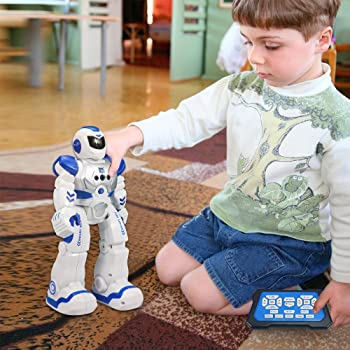 Sikaye RC Robot for Kids Intelligent Programmable Robot with Infrared Controller Toys, Dancing, Singing, Led Eyes, Ge...