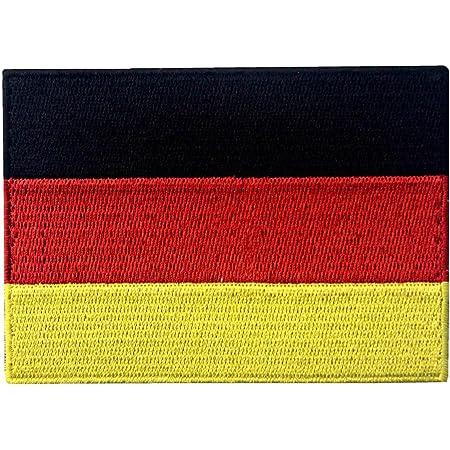 Bandiera della Germania Tedesco Emblema Nazionale Termoadesiva Cucibile Ricamata Toppa