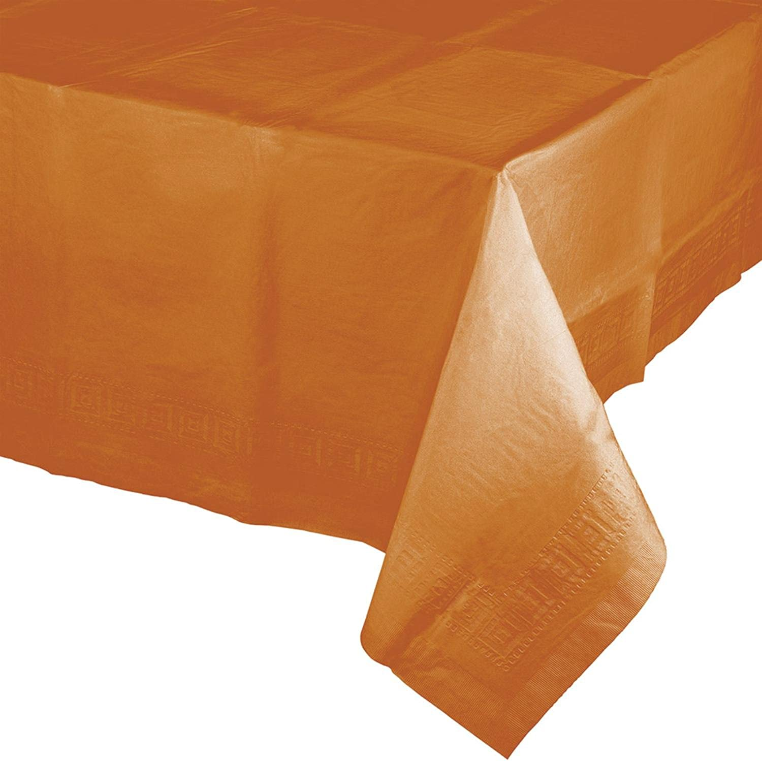 Party Central Pack of 6 orange Pumpkin Spice Thanksgiving Table covers 108
