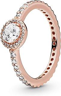 Pandora Women's Multi Tone Gold Cubic Zirconia 18K Ring, 56 EU - 180946CZ-56