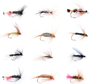 Nymphs MAXIMUMCATCH Maxcatch 120 pcs Fly Fishing Flies Kit Handmade Assortment Dry//Wet Flies Streamers with Fly Box Included