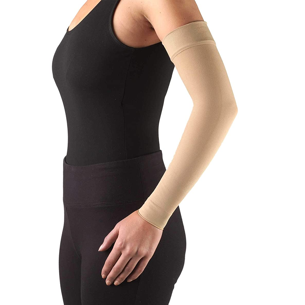 Truform Lymphedema Compression Arm Sleeve, 15-20 mmHg Post Mastectomy Support, Medium (15-20 mmHg)