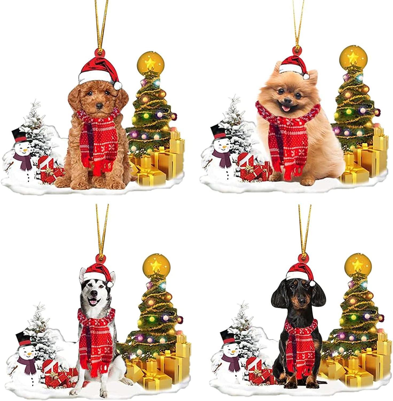 Max 83% OFF 2021 Christmas Snowman Dog Corgi Wooden Pendant Direct stock discount Home