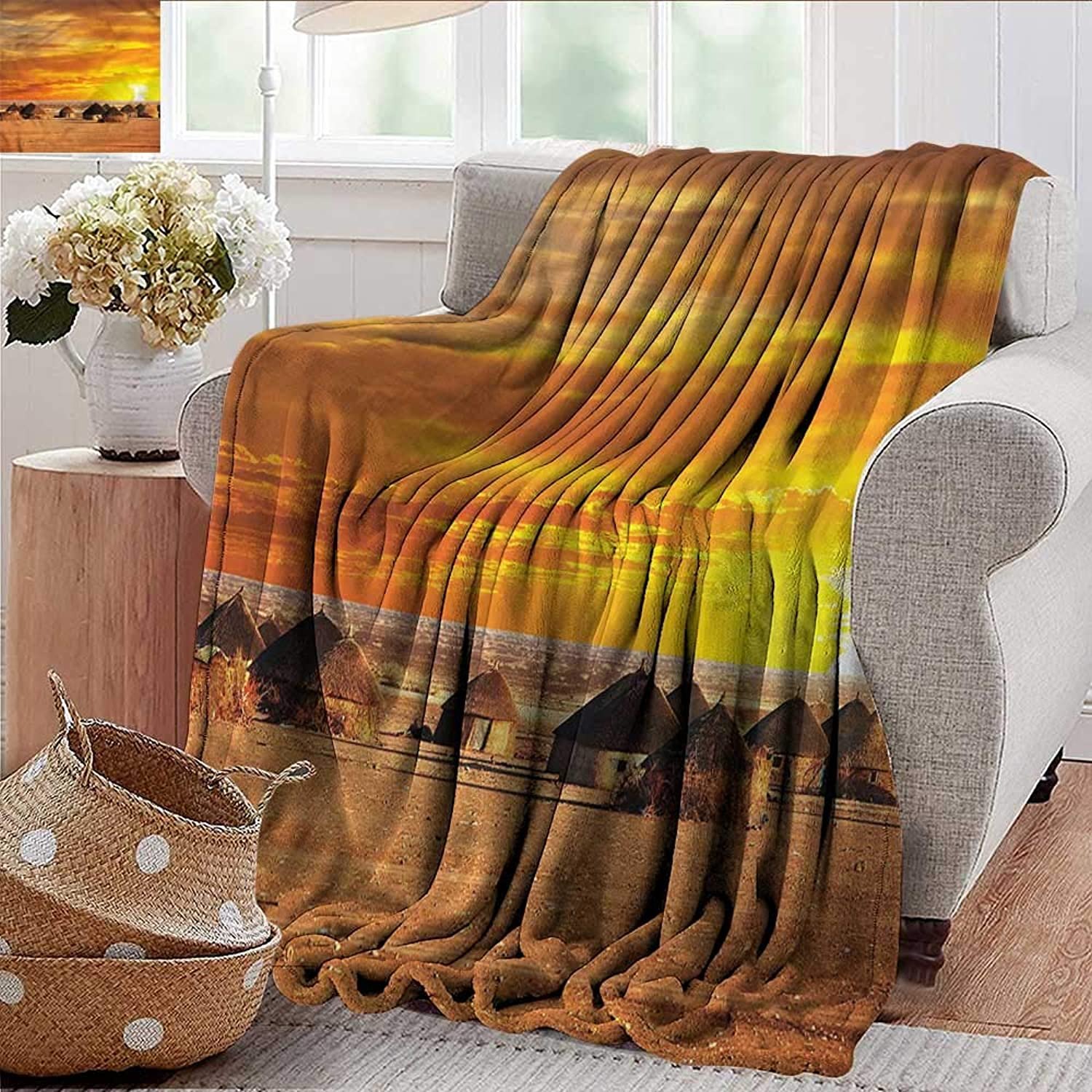 Xaviera Doherty Summer Blanket African,African Landscape Weighted Blanket for Adults Kids, Better Deeper Sleep 35 x60