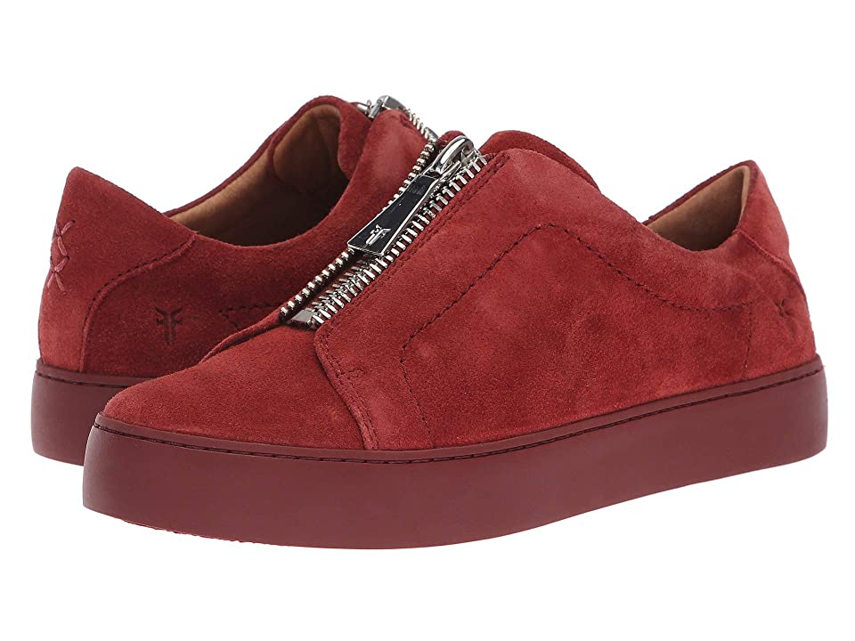 Frye Lena Zip Low (Red Clay Suede) Women's Lace up casual Shoes