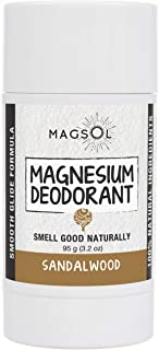 Sandalwood Magnesium Deodorant - Aluminum Free, Baking Soda Free, Alcohol Free, Cruelty Free, Sensitive Skin, All Natural, For Women Men Boys Girls Kids - 3.2 oz (Lasts over 4 months)
