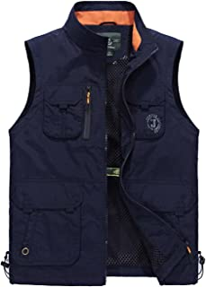 Gihuo Men's Lightweight Quick Dry Outdoor Multi Pockets Fishing Vest