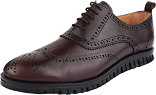 Liberty Men's Wingtip Brogue Dress Shoes Leather Lace Up Formal Business Shoes