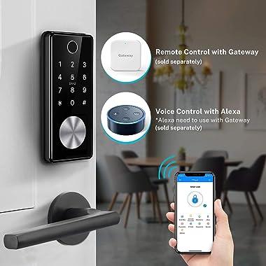 Tiffane Keyless Entry Door Lock Deadbolt, Biometric Fingerprint Door Lock, Smart Door Lock for Front Door, Smart Home Keypad