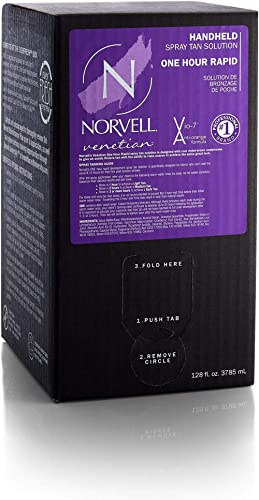 Norvell Premium Professional Sunless Tanning Spray Tan Solution - Venetian One, Gallon/128 fl.oz.