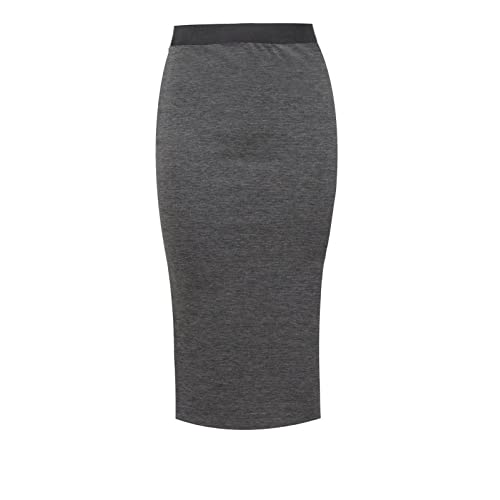 faa9dcefc27 Unbranded New Ladies Women s MIDI Pencil Skirt Plain Bodycon Stretch Jersey  Office Skirt Size 8-