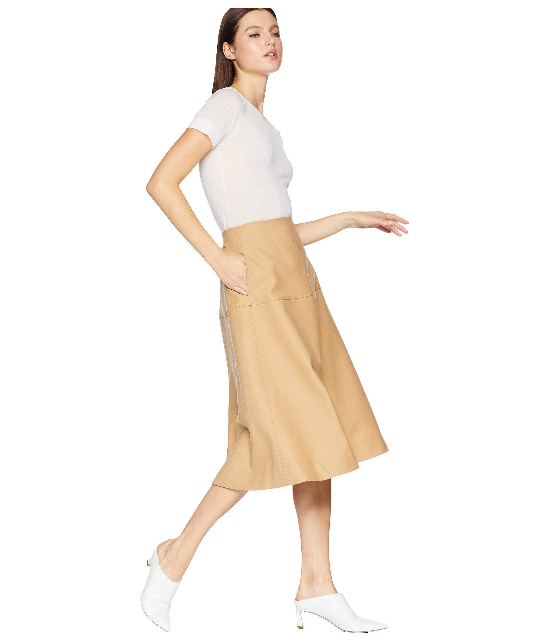 Yoke Navy With Beige A Pockets Skirt line Jil Lined And Sander Back Dark 1X5RqF0