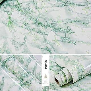 الحد الأدنى الحديث تنقش لفة خلفية PVC Self Adhesive Wallpaper Marble Stickers Waterproof Heat Resistant Kitchen Countertop...