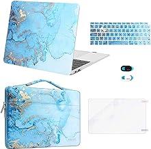 MOSISO Funda Compatible con MacBook Air 13 Pulgadas 2020 2019 2018 A2337 M1 A2179 A1932,Plástico Acuarela Mármol Rígida Ca...