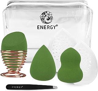 ENERGY多機能メイク用スポンジパフ メイク用スポンジパフセット(抹茶グリーン)