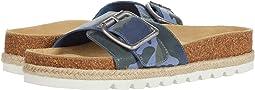 Blue Camo Leather