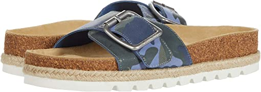Blue Camo Leather