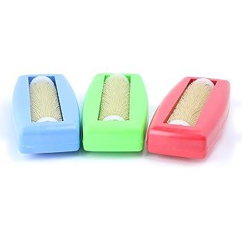 Aspirabriciole non elettrico a rullo spazzola per tappeti tovaglie spazzola briciole Spazzino auto caravan Arancione