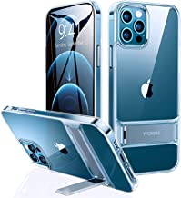 TORRAS MoonClimber Compatible for iPhone 12 Pro Max Case [5X Military Armor-Level Shockproof][Three Stand Ways] Slim Hard Phone Case with Kickstand 6.7''-Clear