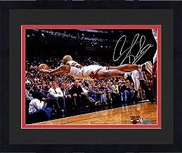 Framed Dennis Rodman Chicago Bulls Dive For Loose Ball Horizontal 16x20 Photograph - Steiner Sports Certified