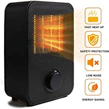 ToysUkids Personal Space Heater, Electric Heater Portable Ceramic Mini Heater with Tip-Over and Overheat Protection, ETL Listed for Home Office Kitchen Bedroom and Dorm, 750/1500 Watt