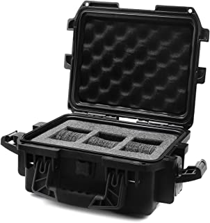 IG0097-SMIS-B 3 slot Black Plastic Watch Box Case